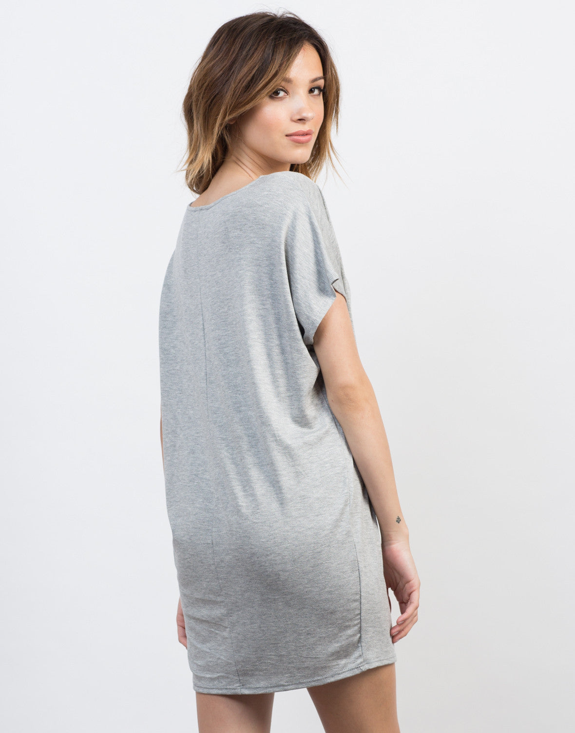 Back View of Oversized Dolman Dress