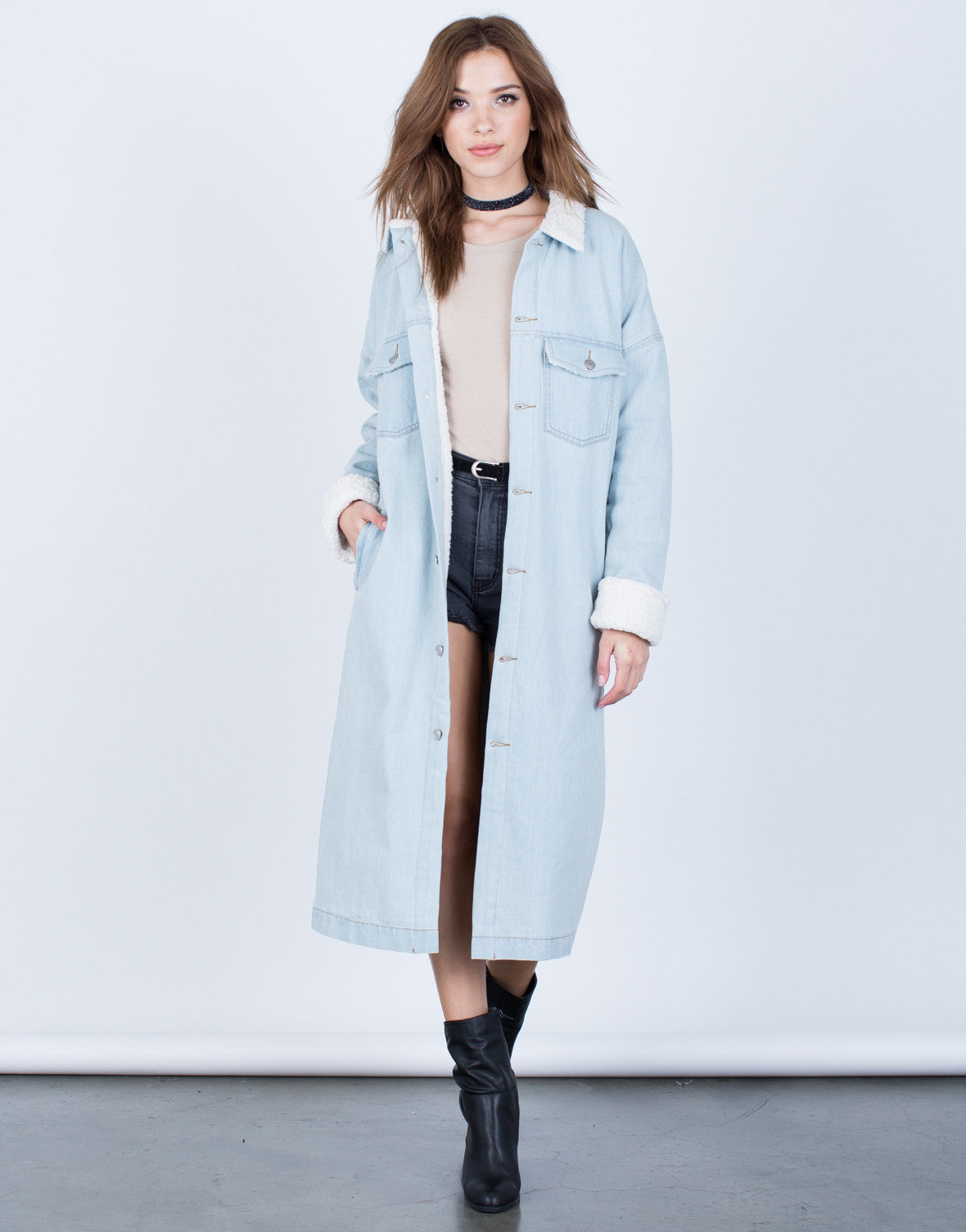 Oversized Longline Denim Jacket