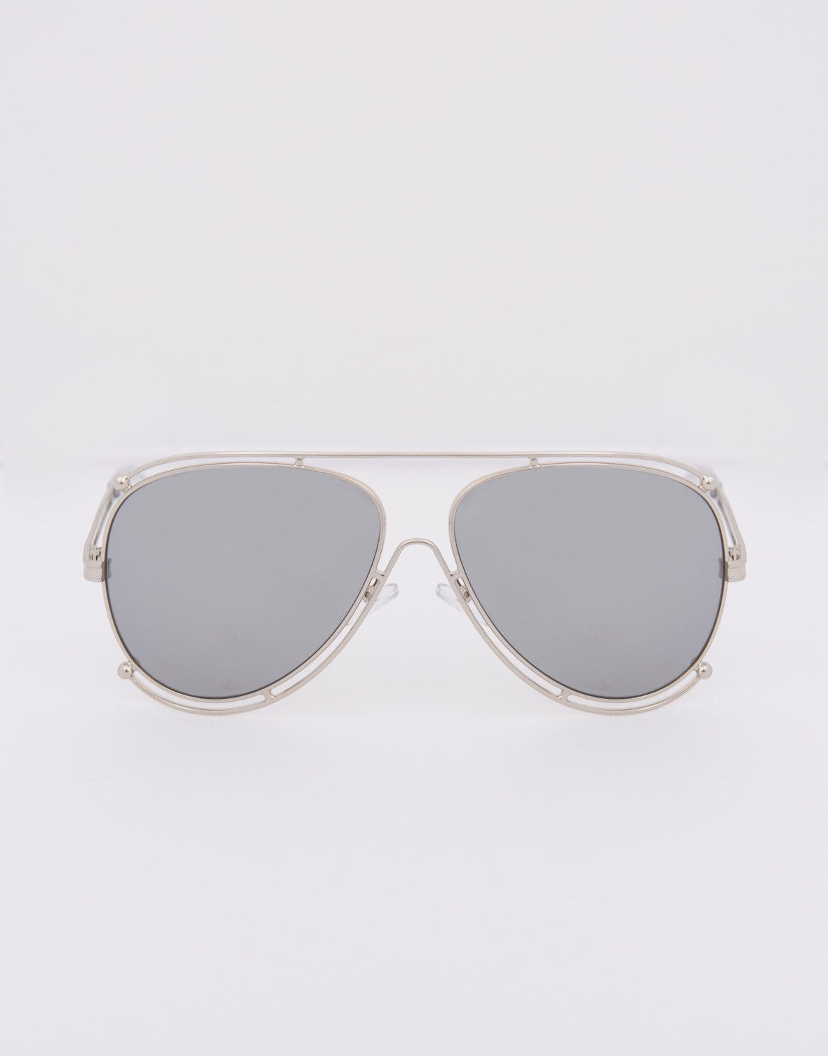 Oversized Mirrored Aviator Sunglasses