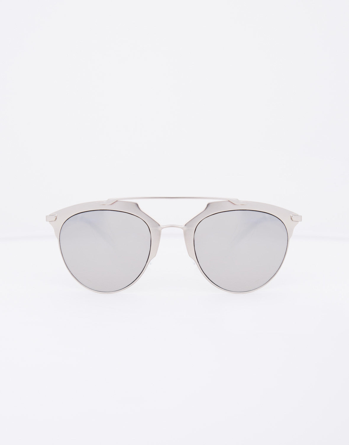 Oversized Mirrored Bar Sunglasses