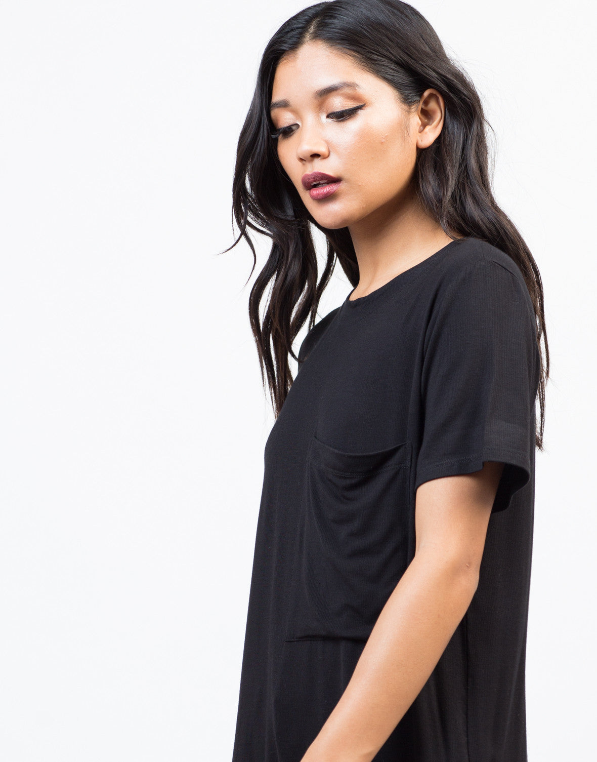 Detail of Oversized Pocket Tee Dress