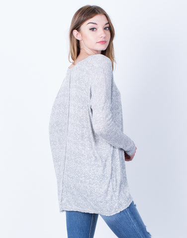Oversized Rib Knit Top