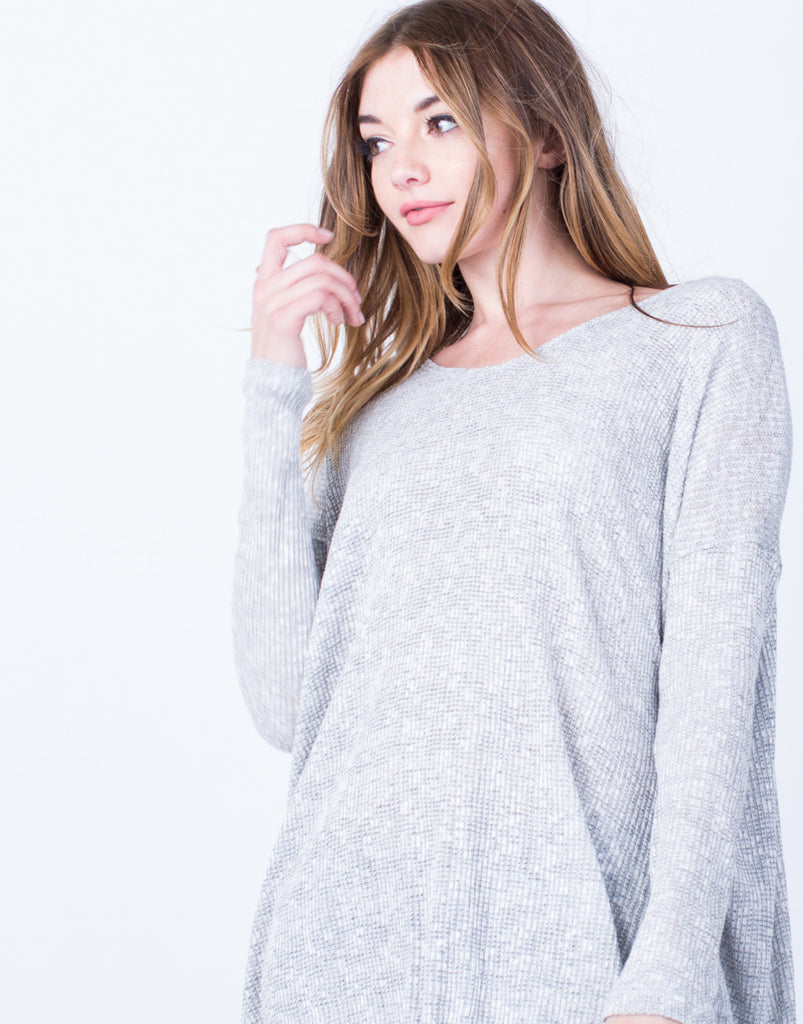 Oversized Rib Knit Top - 2020AVE