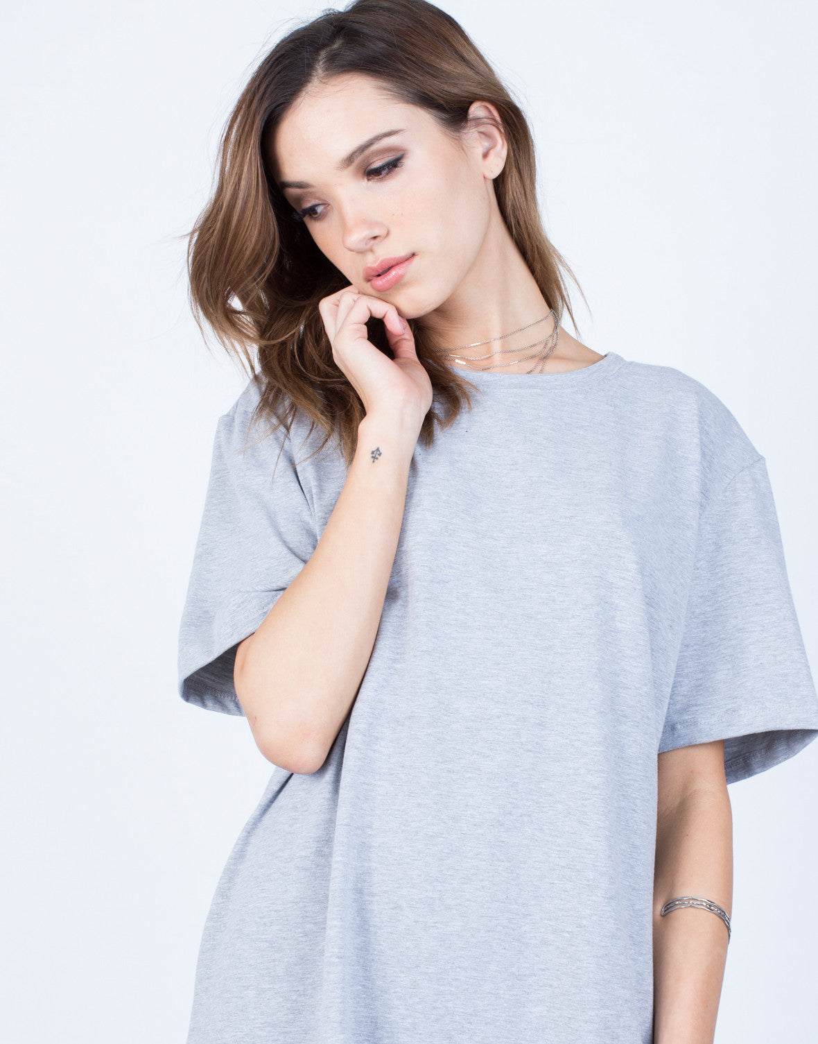 Detail of Oversized Tee Dress