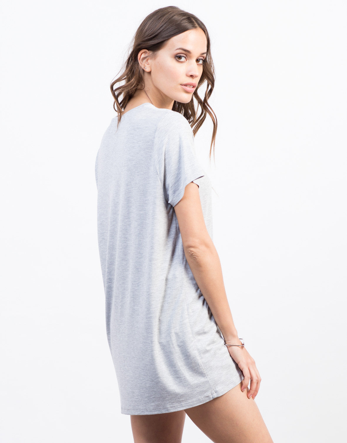 Back View of Ovesized Tunic Tee