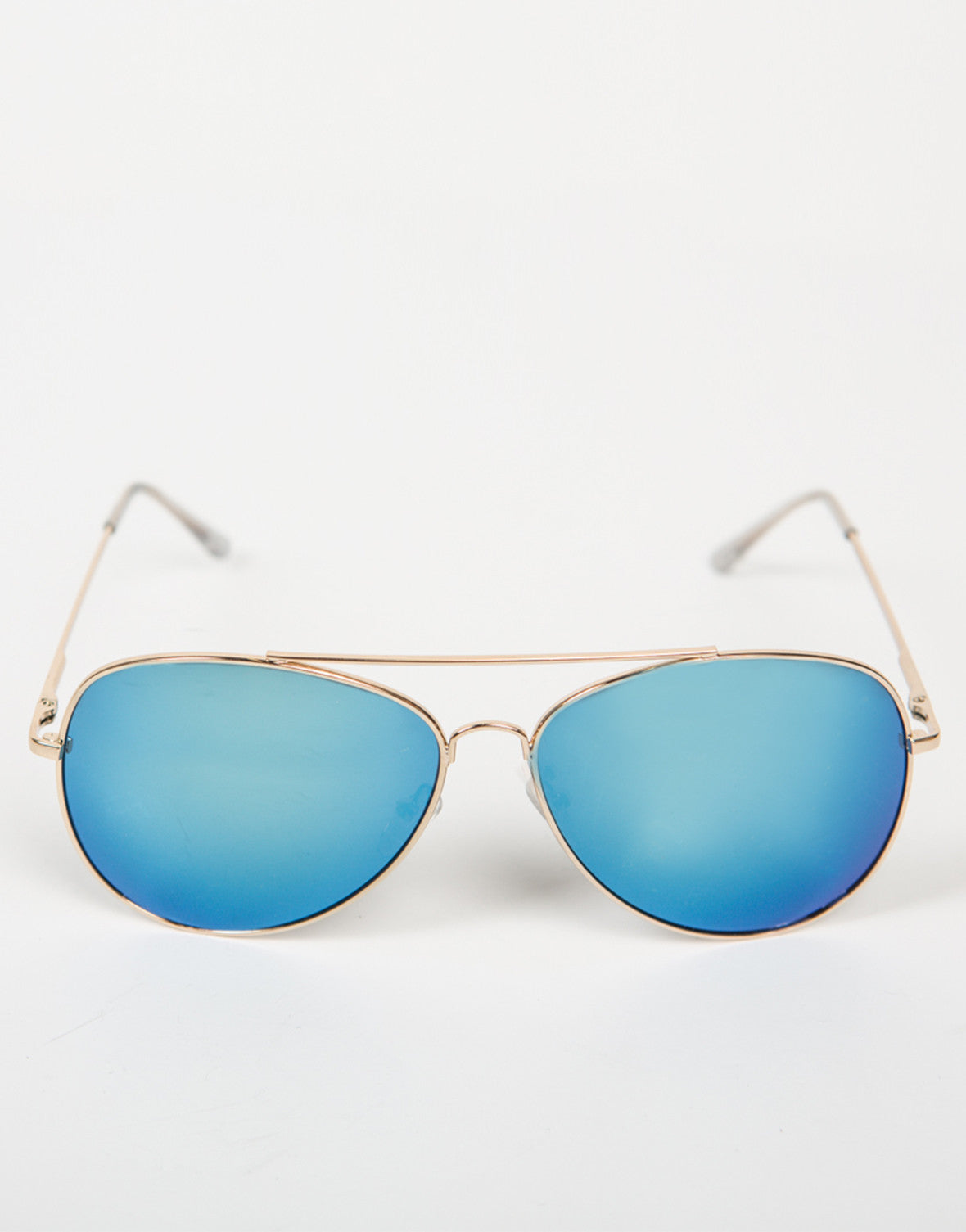 Front View of Oversized Aviator Mirrored Sunnies