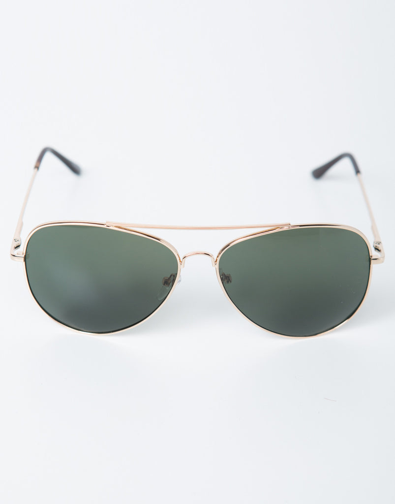 Oversized Aviator Sunglasses - 2020AVE