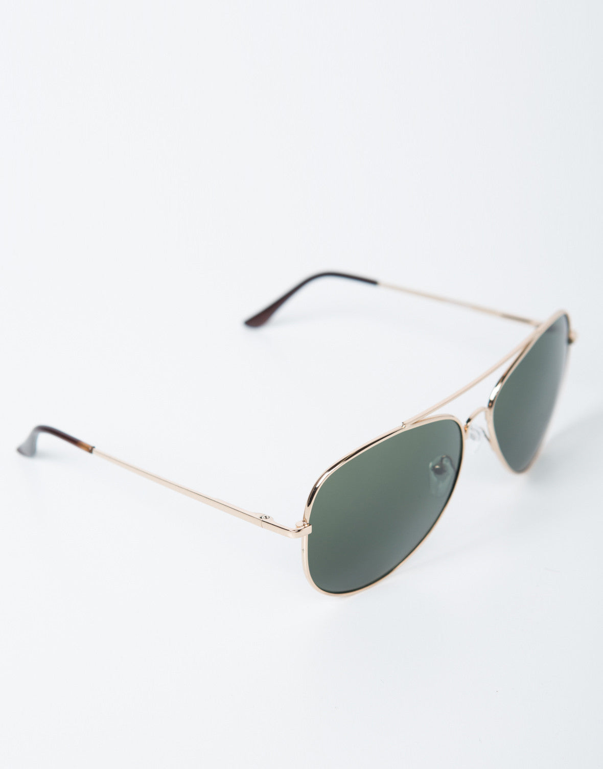 Side View of Oversized Aviator Sunglasses