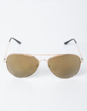 Front View of Oversized Aviator Sunglasses