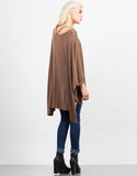 Back View of Oversized Batwing Tee