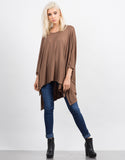 Front View of Oversized Batwing Tee