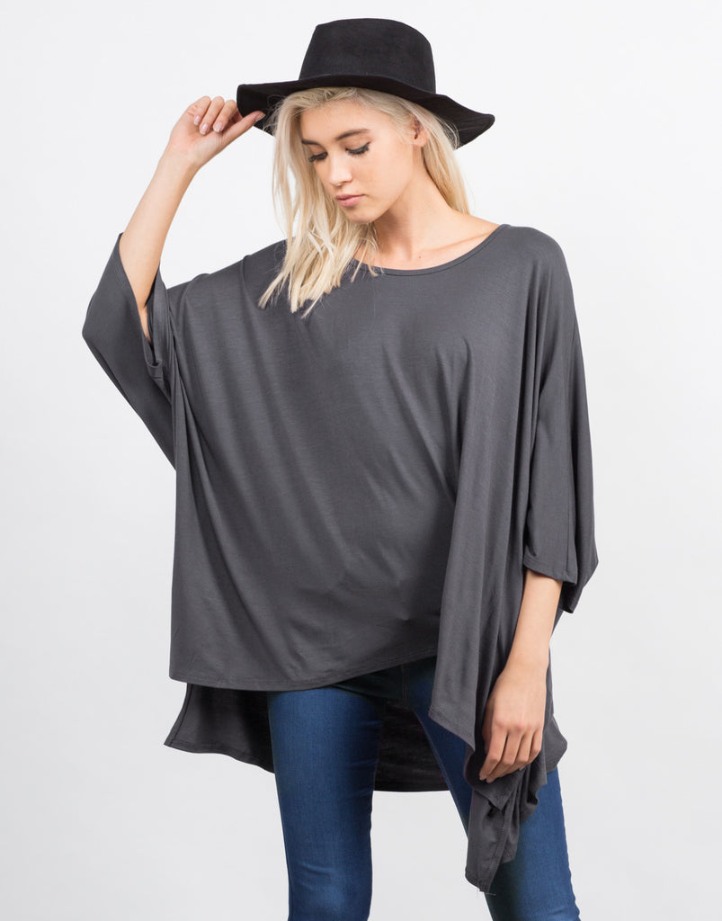 Oversized Batwing Tee - 2020AVE