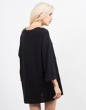 Back View of Oversized Boyfriend Tee Dress