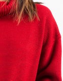 Detail of Oversized Crop Turtleneck Sweater