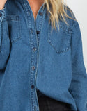 Detail of Oversized Denim Shirt