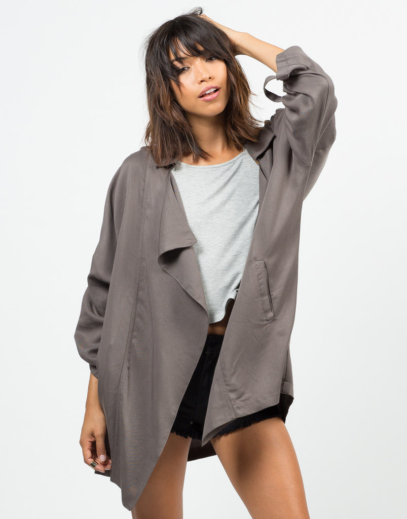 Oversized Drapey Open Jacket - Large - 2020AVE