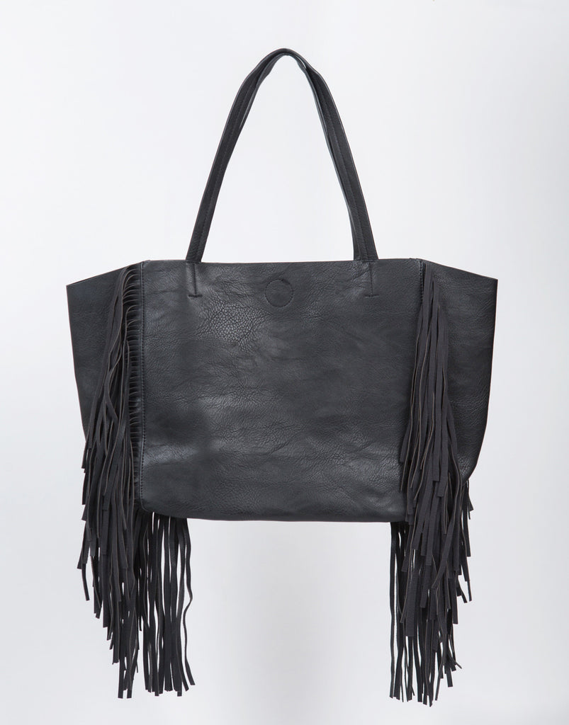 Oversized Fringe Tote Bag - 2020AVE