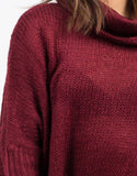 Detail of Oversized Knit Cowl Neck Sweater