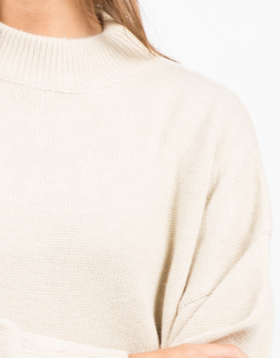 Detail of Oversized Long Knit Sweater