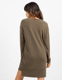 Back View of Oversized Long Sleeve Sweater Dress