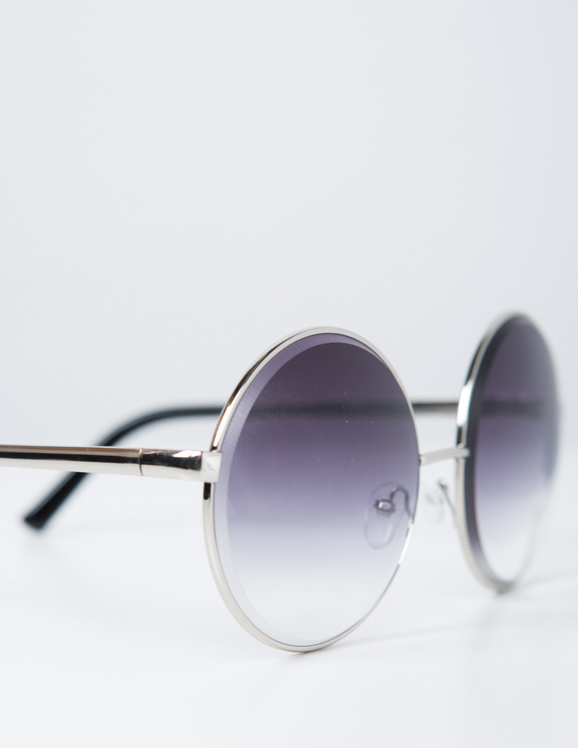 Detail of Oversized Metal Circle Sunglasses