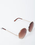 Oversized Metal Circle Sunglasses - 2020AVE