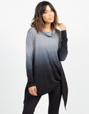 Front View of Oversized Ombre Top