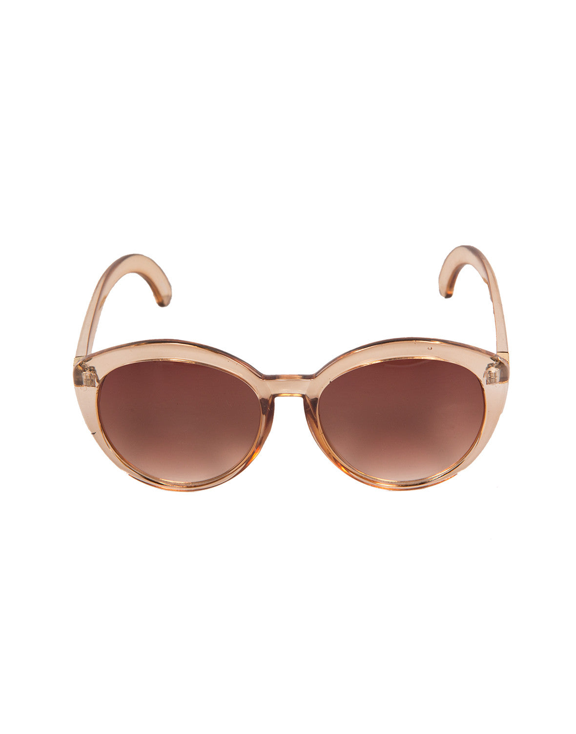 Oversized Round Cat Eye Sunglasses (+ Colors) - Tortoise