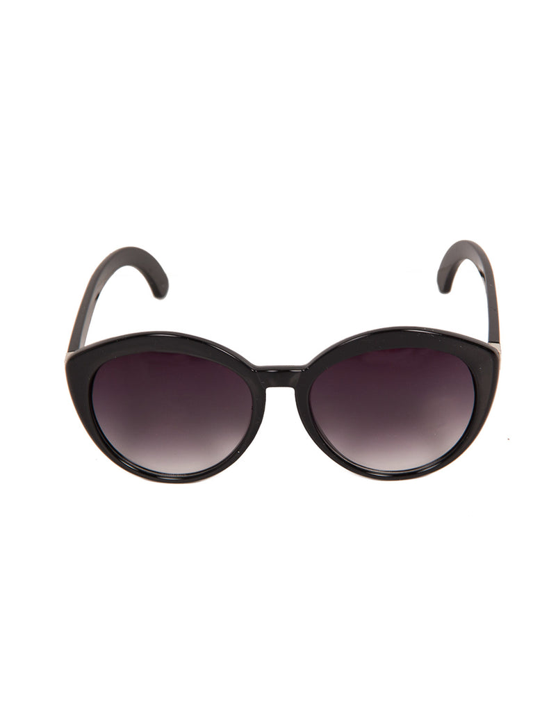 Oversized Round Cat Eye Sunglasses (+ Colors) - Tortoise - 2020AVE