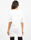 Back View of Oversized Shift Dress