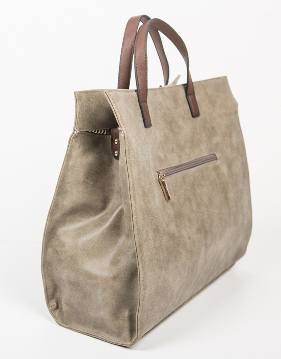 Side View of Oversized Shopper Tote Bag