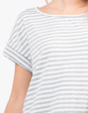 Detail of Oversized Striped Tee