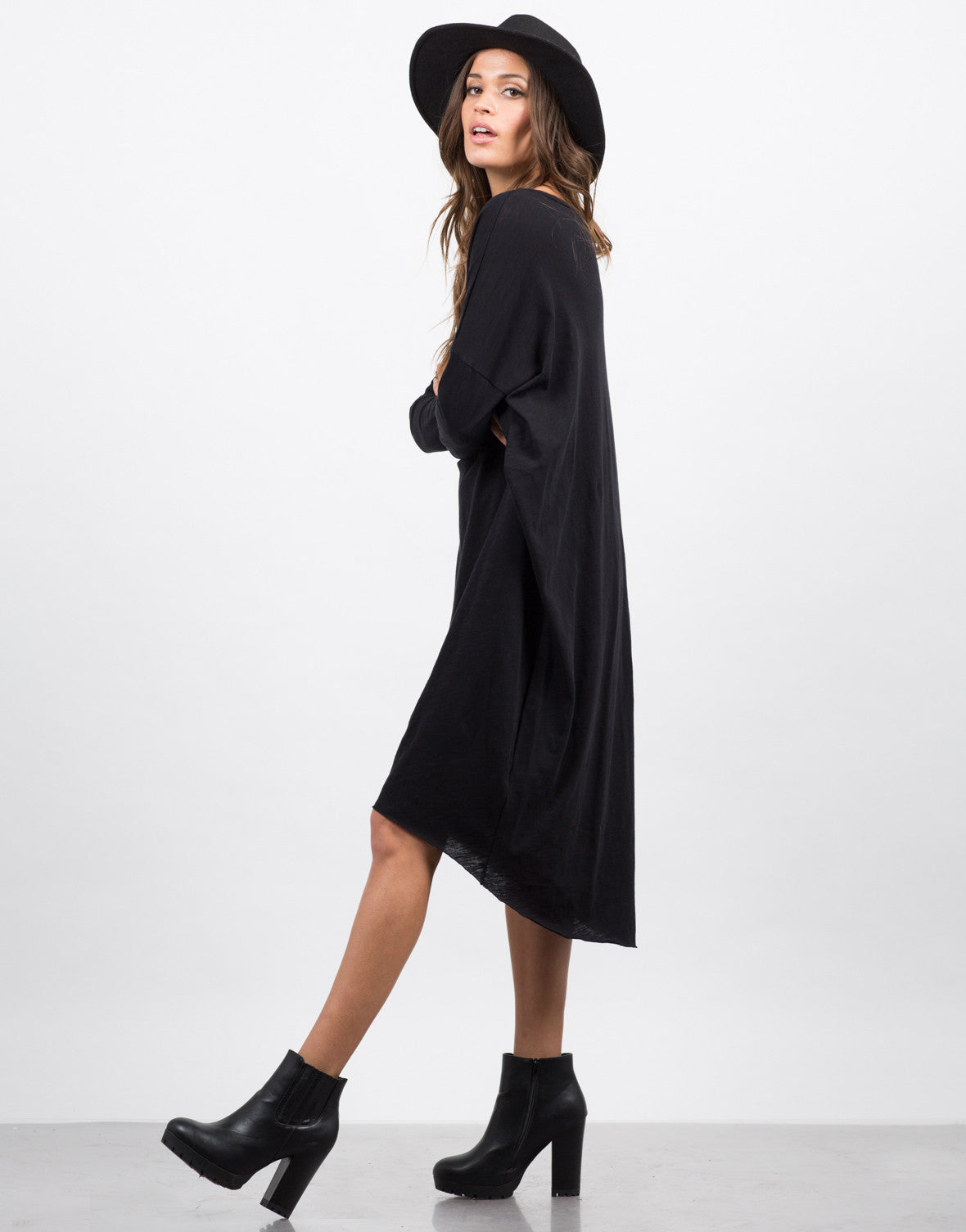 Side View of Oversized T-Shirt Dress