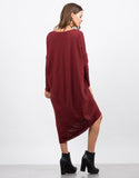 Back View of Oversized T-Shirt Dress