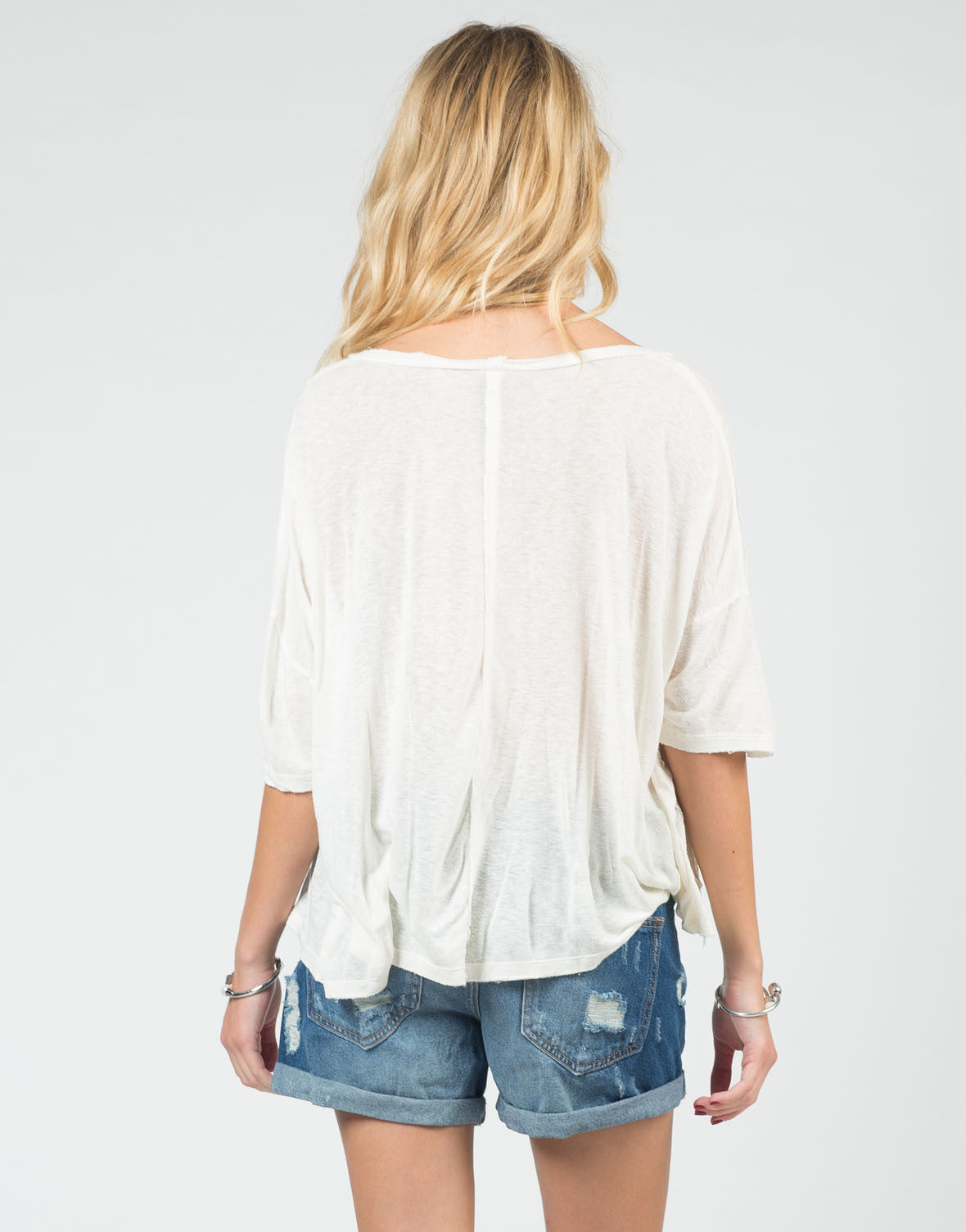 Back View of Oversized Vintage Dolman Tee