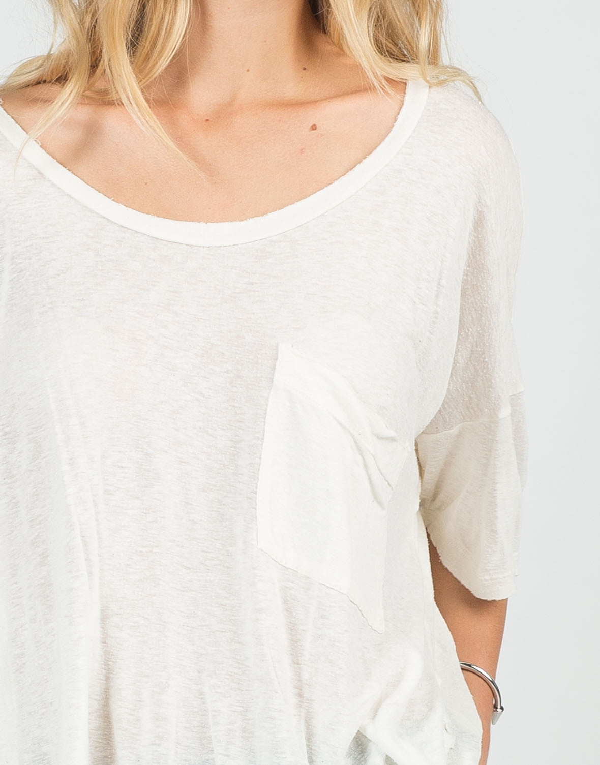 Detail of Oversized Vintage Dolman Tee