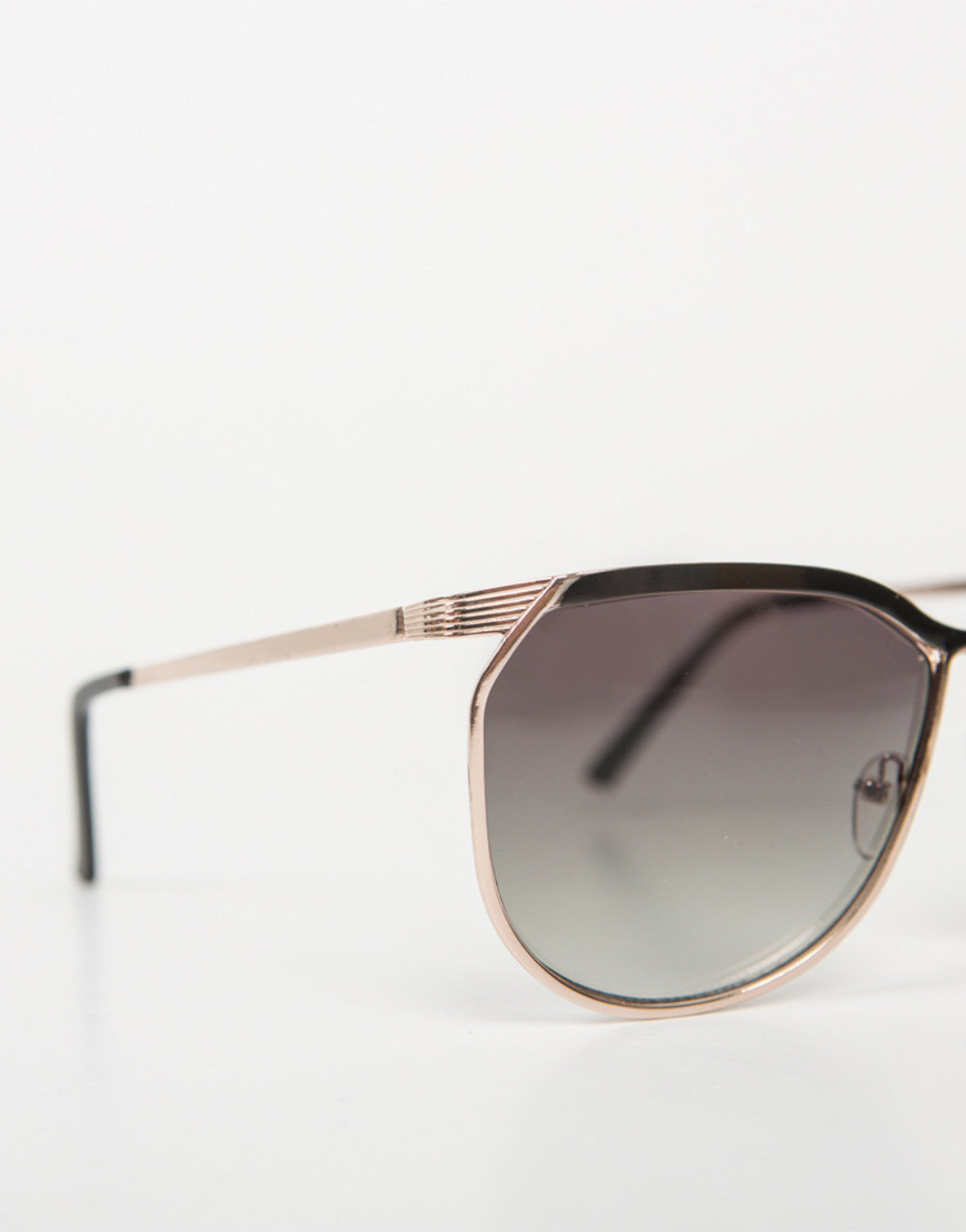 Detail of Oversized Vintage Pilot Sunnies