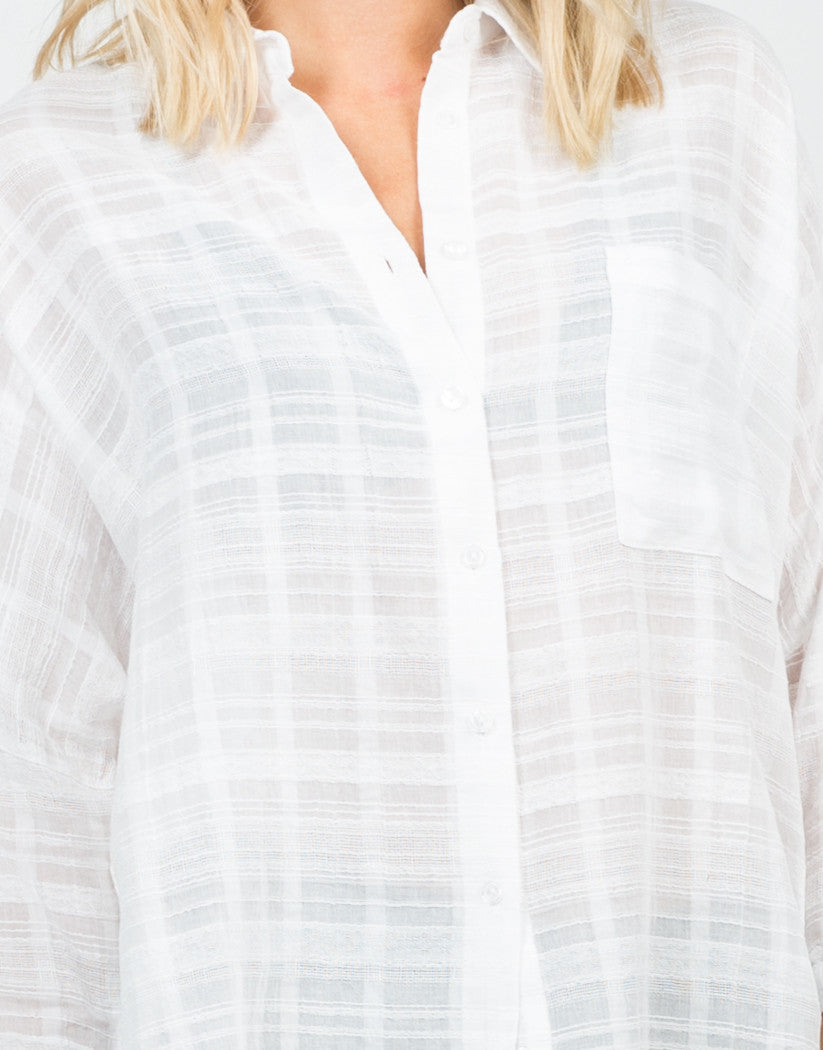 Detail of Oversized Woven Shirt