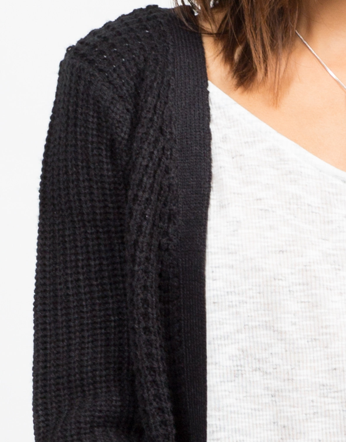 Detail of Oversize Knit Cardigan