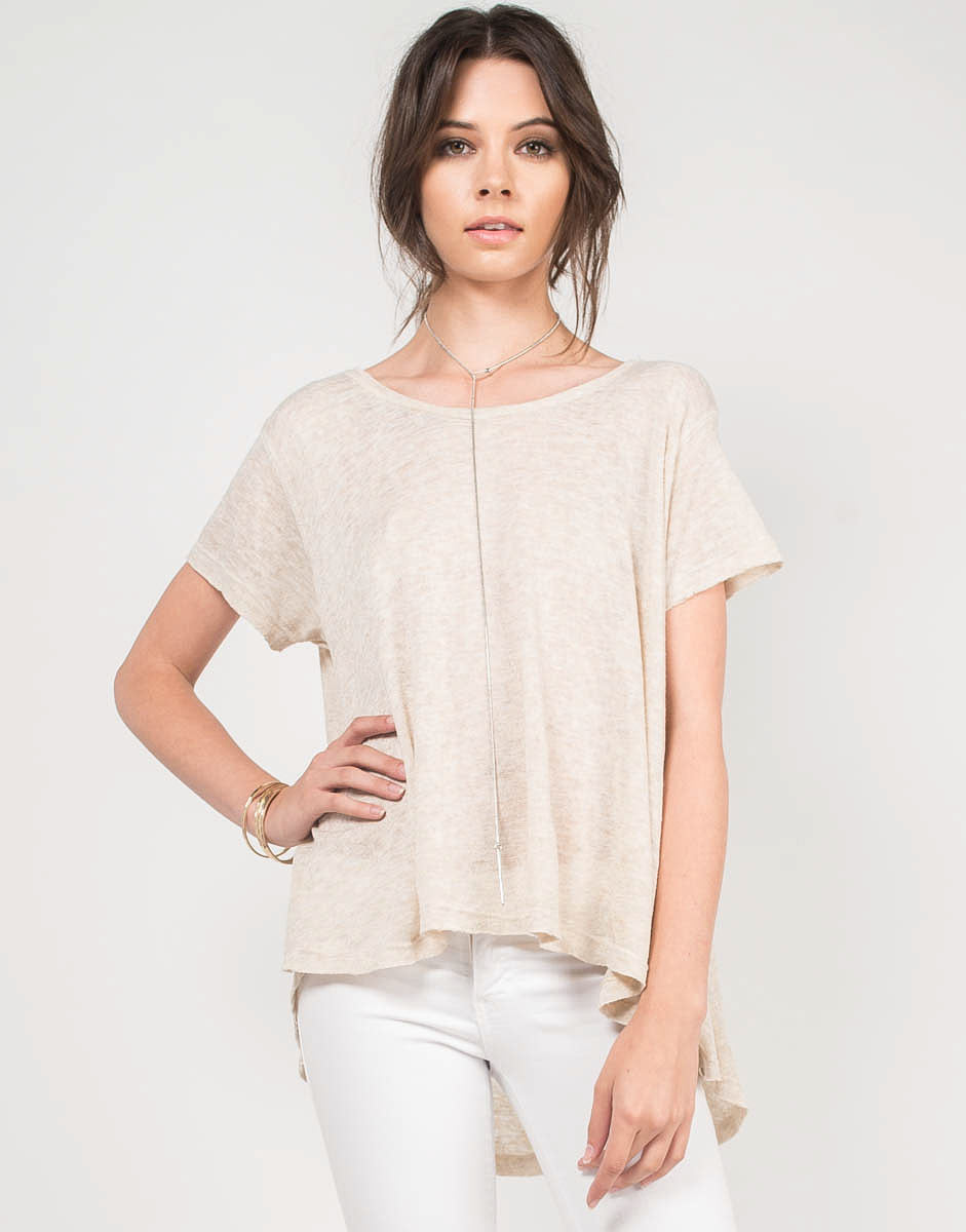 Front View of Oversize Me Top