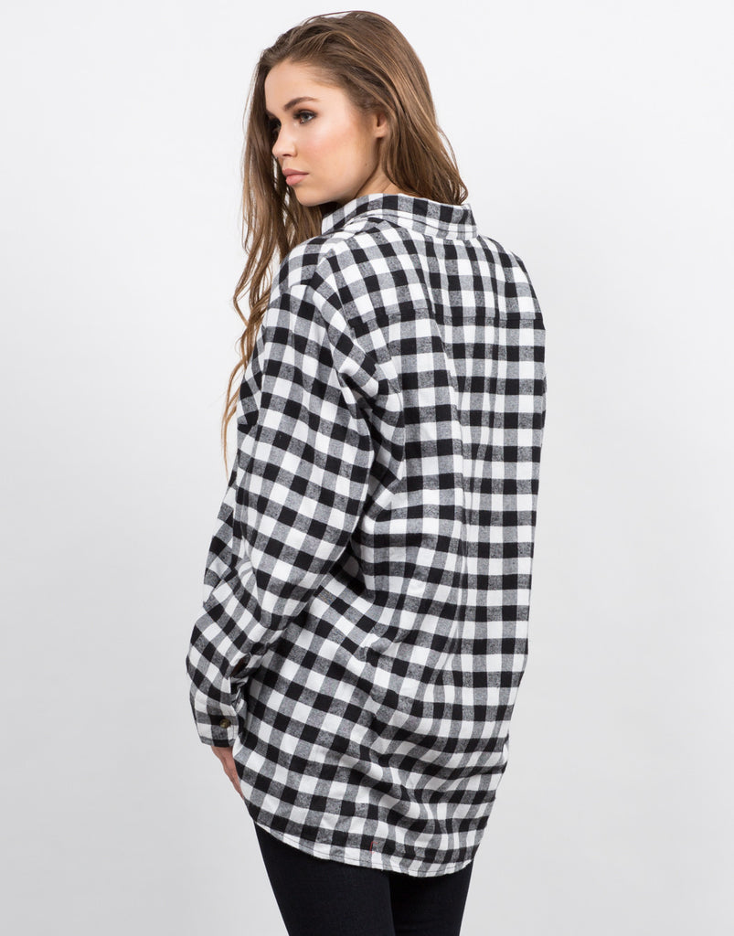 Oversize Plaid Flannel Shirt - 2020AVE