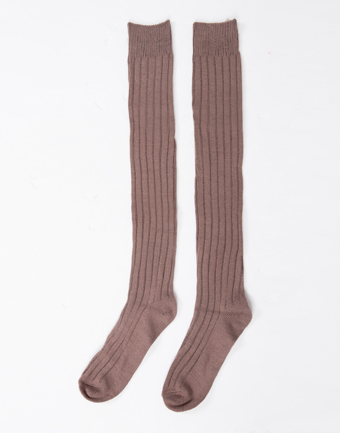 Over-the-Knee Ribbed Socks - 2020AVE