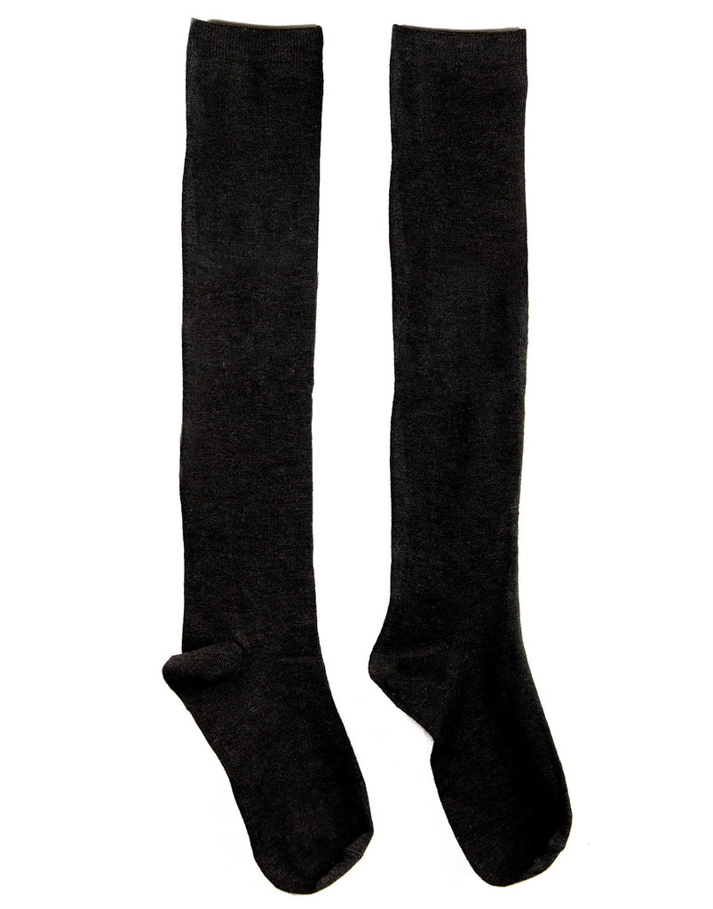 Over-the-Knee Solid Socks - Black - 2020AVE