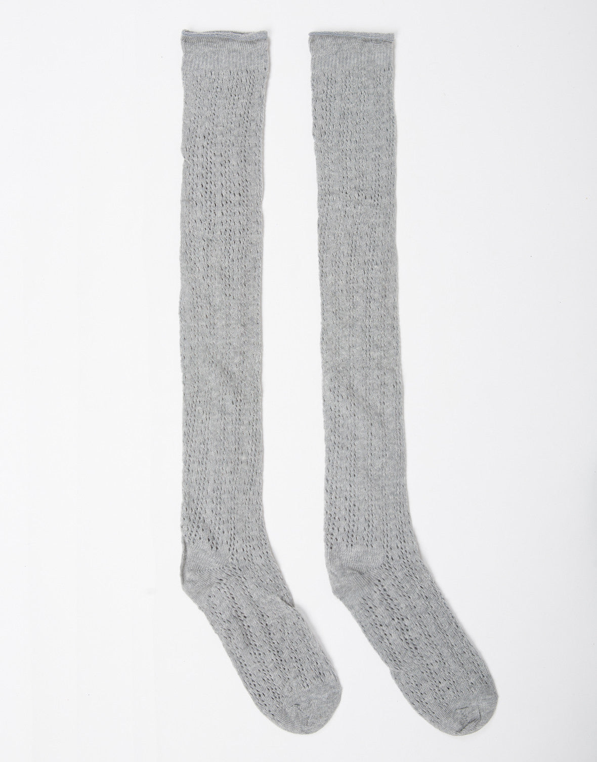 Over-the-Knee Thin Knit Socks