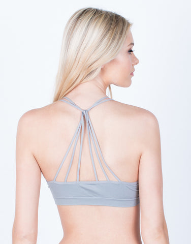 Back View of Padded Triple Threat Bralette