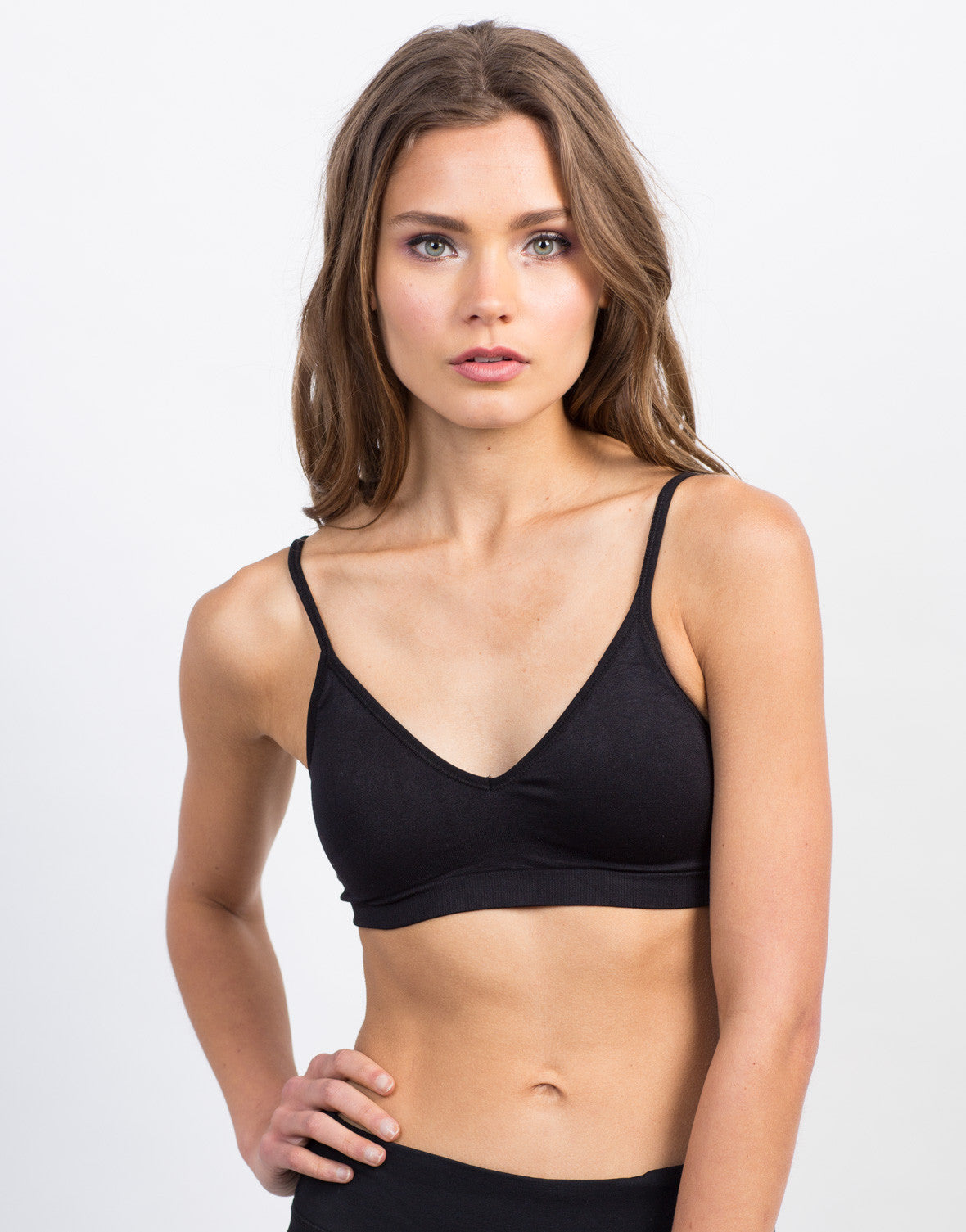 Padded V-Neck Bra