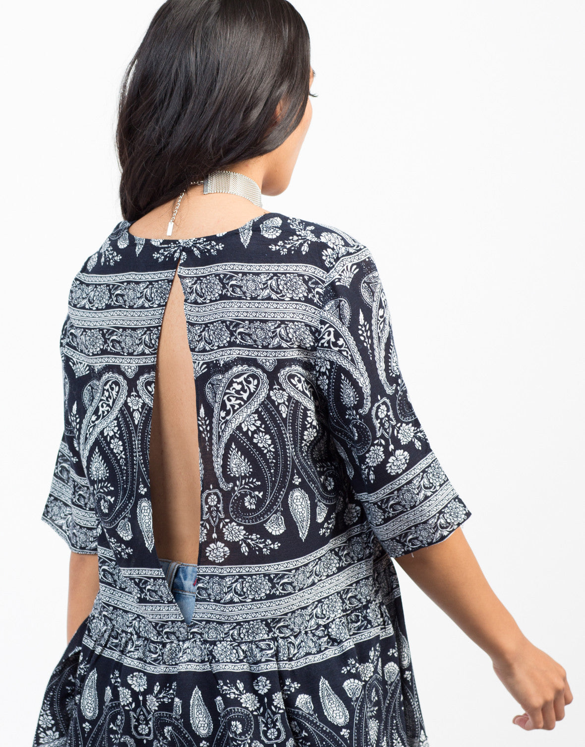 Detail of Paisley Vacay Top