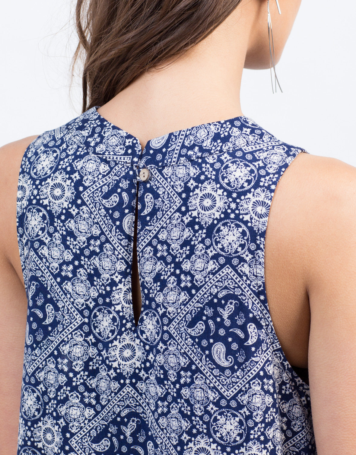 Detail of Paisley Shift Dress