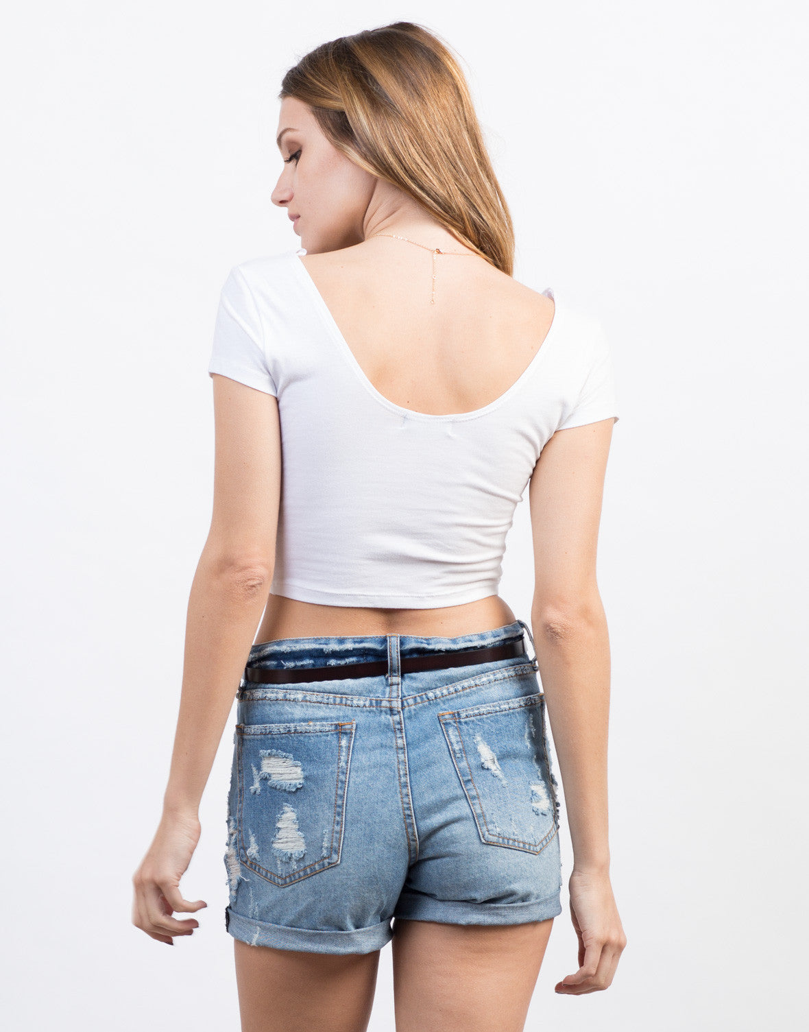 Back View of Paradise Cocktail Cropped Tee
