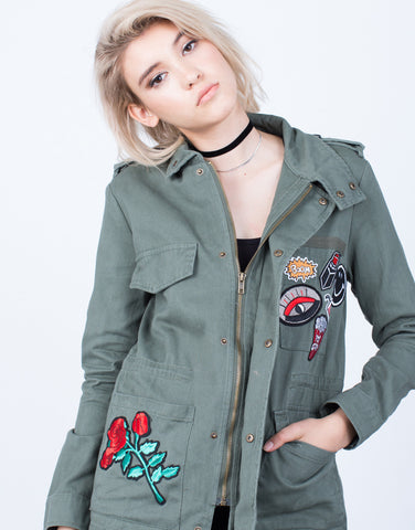 Detail of Patch Me Up Denim Jacket